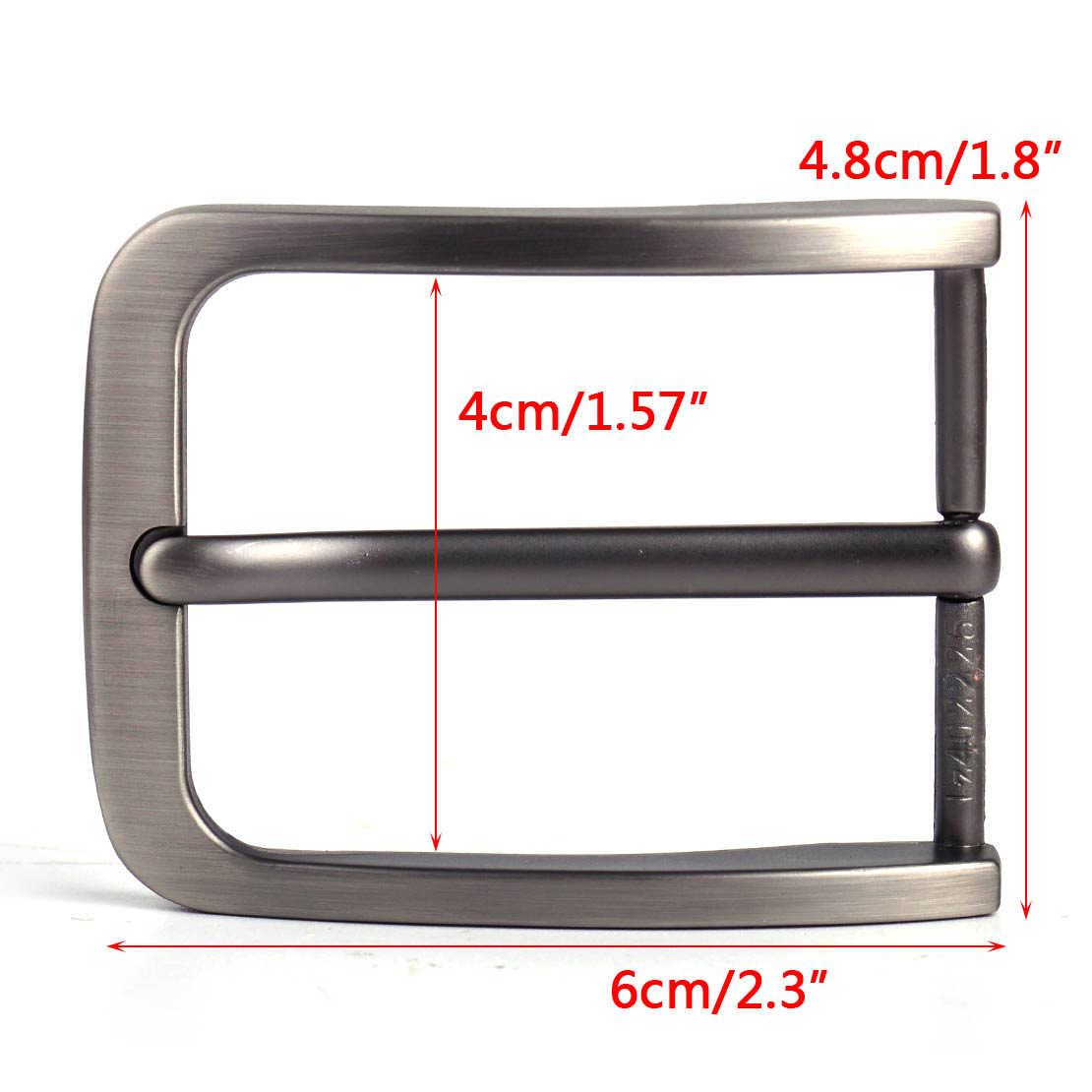 LETAOSK 4 cm Retangular Liga Pino Único Pino de Fivela de Clipe para Cinto De Homens De Couro Substituição Spare
