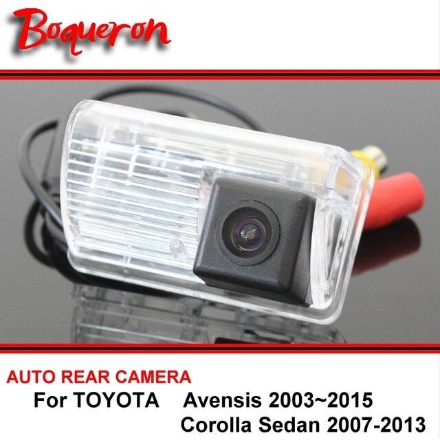 For TOYOTA Avensis Corolla Sedan 2003~2015 Night Vision Rear View Camera Reversing Camera Car Back up Camera HD CCD Wide Angle