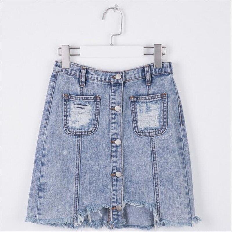 Teenager Denim Skirts Big Baby Girls Fashion Tassel skirt Junior Pocket casual Skirts 2017 Babies Autumn Clothing