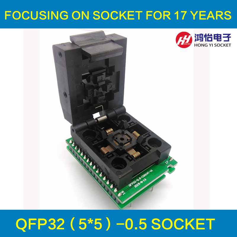 QFP32 TQFP32 LQFP32 to DIP32 Universal Programmer Pin Pitch 0.5mm IC Body Size 5x5mm  Adapter SMT/SMD Test Socket fshh qfn18 to dip18 programmer adapter wson18 udfn18 mlf18 ic test socket size 3 6mmx3 6mm pin pitch 0 5mm