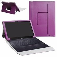 Funda de cuero PU con soporte para Acer Switch 3 Windows 10 2 en 1 tableta portátil Convertible de 11,6″