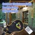 Jardim ao ar livre Decoração de Natal À Prova D' Água IP65 Luz Laser Twinkle Star Projector Chuveiros Estática Verde Vermelho Com Controle Remoto IR