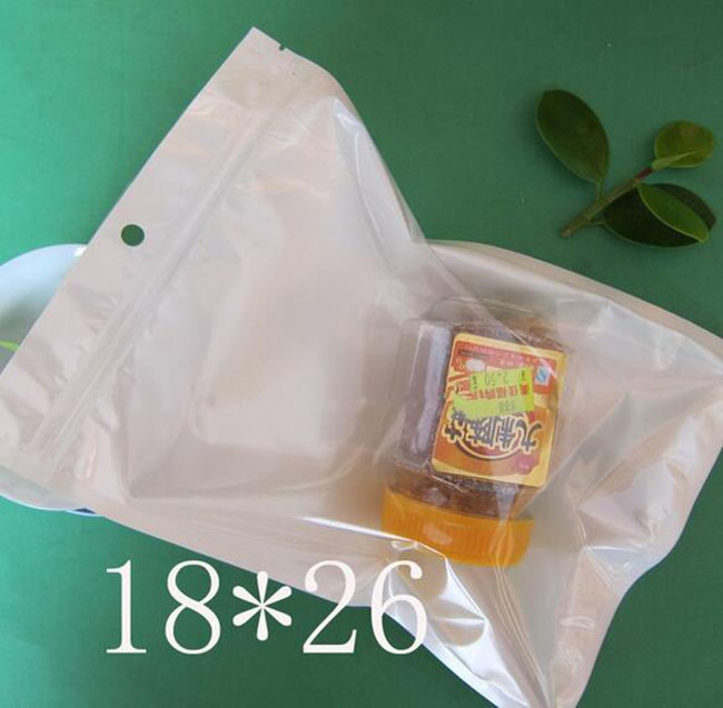 18 26cm White Clear Valve Resealable Zipper Plastic Retail Packaging Poly Bag Ziplock Zip Lock Bag