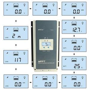 Image 2 - Controlador solar 60a 12 v 24 36 v 48 v do carregador de mppt do tracer epever regulador solar do lcd da luz de fundo automático para a entrada 6415an máxima do pv 150 v