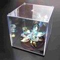 """Mini Acrílico Transparente Caso Caixa De Exibição De Plástico À Prova de Poeira Proteção Bandeja Cubo 3.9 """"/10 cm Bloco Brinquedos Dos Miúdos Das Crianças"""