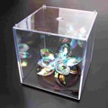 "Mini Clear Acrylic Plastic Display Box Case Dustproof Tray Protection Cube 3.9""/10cm Children Kids Block Toys"