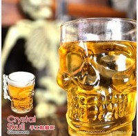 500ML Free Shipping Large Crystal Skull Cup Beer Cup Glassware