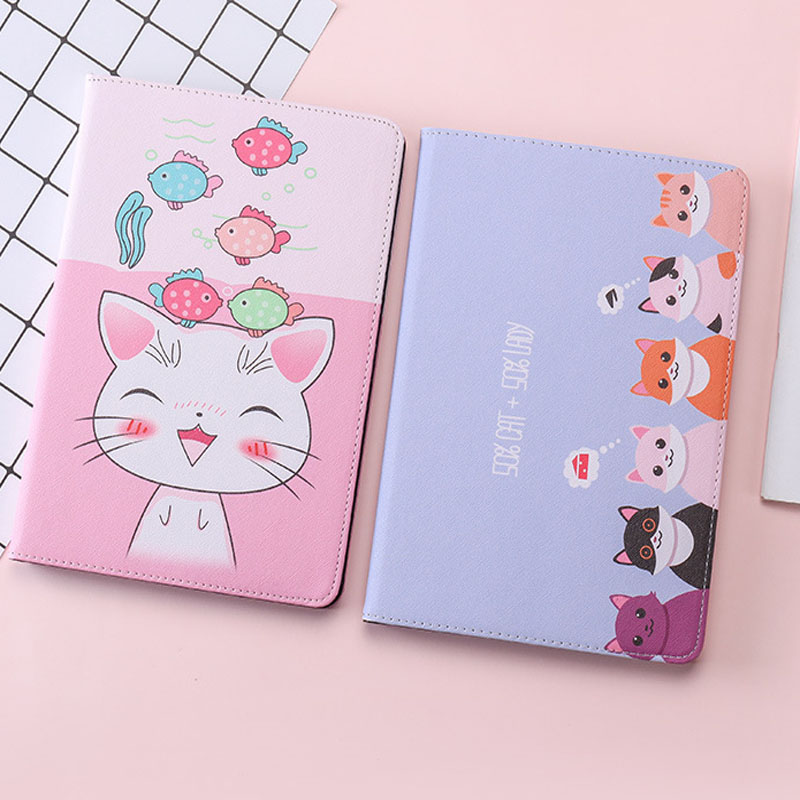 For iPad Mini 4 Case Fashion Cartoon Cute cat PU Silicone Soft Back Tablet Cover For Apple iPad Mini 4 Flip smart stand Case in Tablets e Books Case from Computer Office