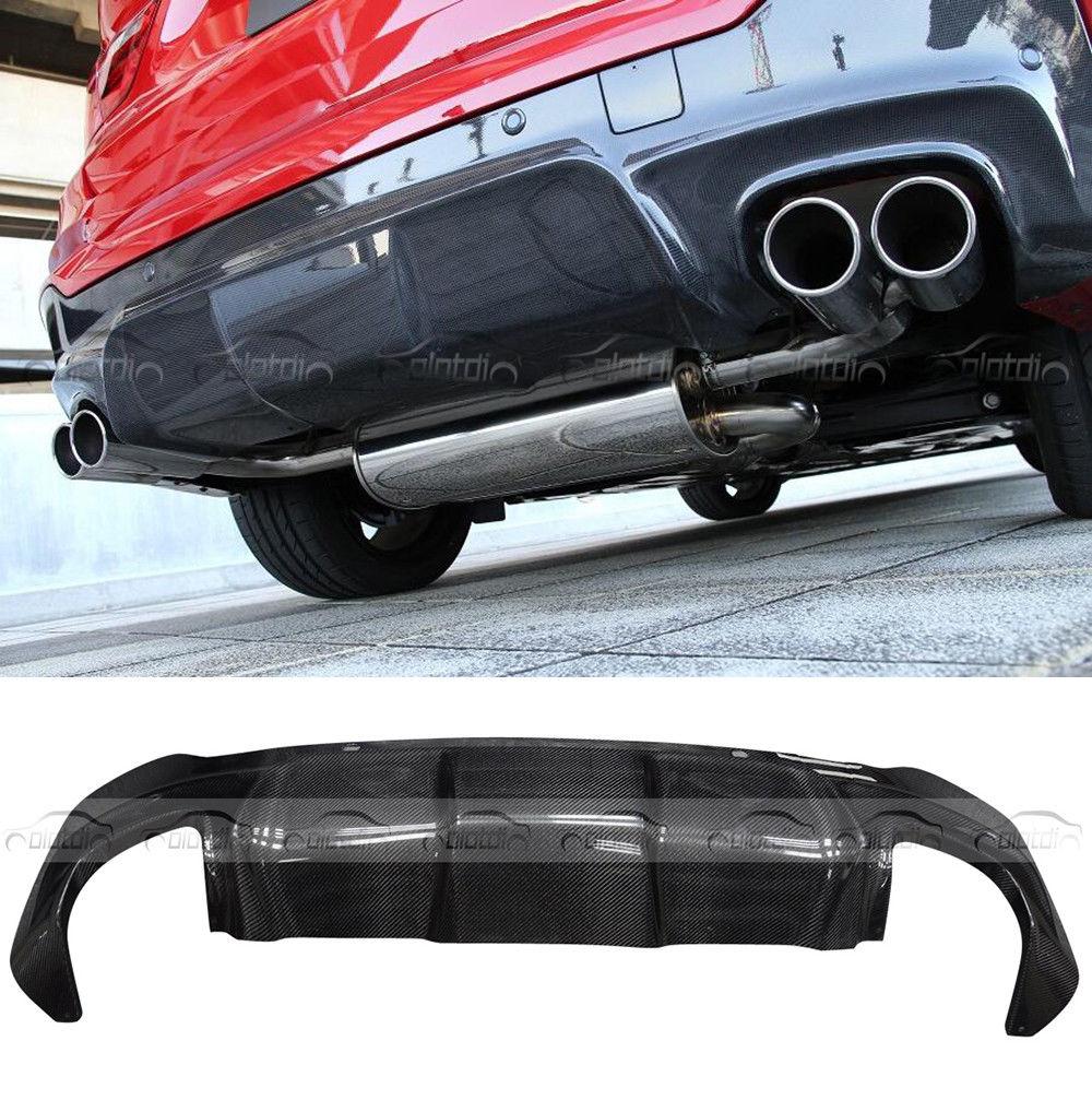 Carbon Fiber 3D Style Rear Diffuser Bumper Lip For BMW X4 F26 M-Sport M-TECH 14+ diffuseur arrière carbone bmw x4 f26