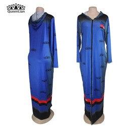 2018 freies Verschiffen Neue Mode Druck Dashiki Zipper Elastische Mantel Lose Stil Traditionelle Afrikanische Kleid Für Frauen (LLGQ #)