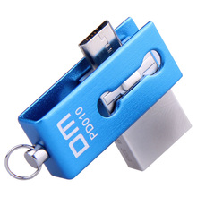 PD010 DM envío libre Unidad Flash USB 32G OTG Smartphone pen drive micro usb portátil de almacenamiento de metal con memoria usb a prueba de agua palo