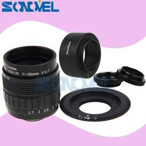 Image 1 - FUJIAN 35mm F1.7 CCTV Movie lens+C Mount+Macro ring+hood for Panasonic Micro 4/3 m4/3 GF2 GF3 GF5 GF6 GX1 GX7 GX8 G5 GH1 GH2 GH5