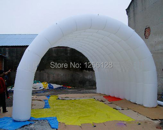 Portable White Inflatable Arch Tent/inflatable tunnel For Trade Show come with air blower