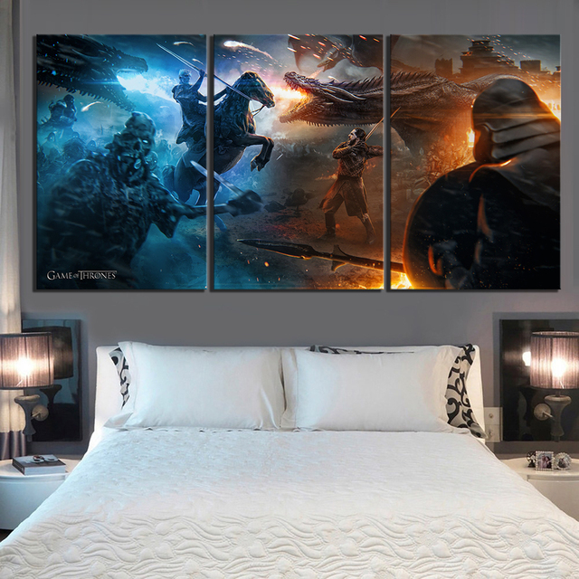 "3 Piece ""Game of Thrones"" Artwork Canvas  1"