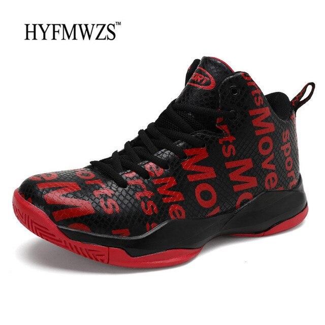 HYFMWZS 2018 Cesta Homme Krasovki Respirável Tênis De Basquete Homens Tênis de Basquete Sapatos de Desporto Não-slip Cesta Scarpe 39-46