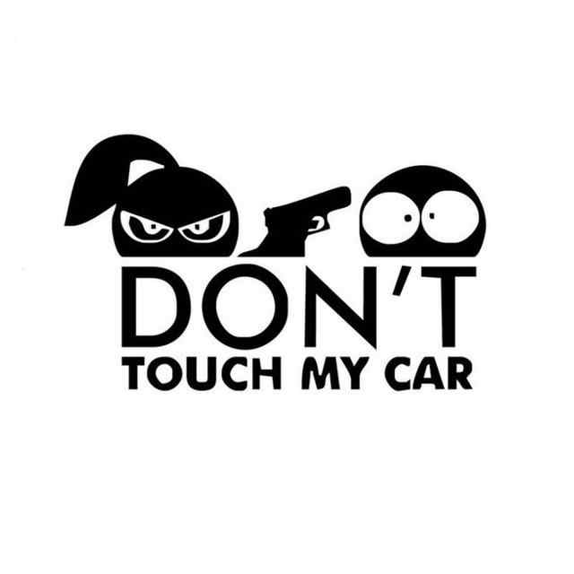 18x14cm Funny Car Sticker for Warning Do Not Touch My Car Reflective Vinyl Car Body Window Sticker Decal Car Styling r20
