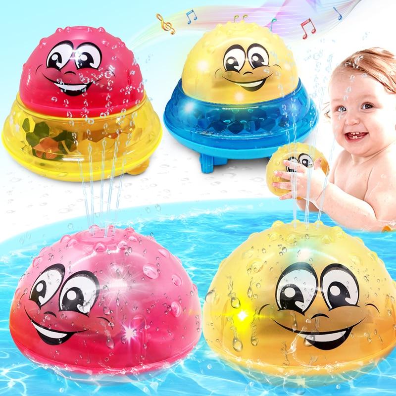 Jouets de bain pulvérisation d'eau lumière tourner avec douche piscine enfants jouets pour enfants bambin natation fête salle de bains lumière LED jouets cadeau