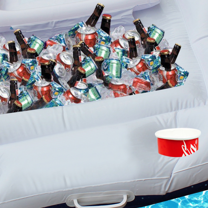 185cm 28 Cup Holder Giant Inflatable Beer Pong Table Pool Float 2018 New  Summer Water Party Toys Air Mattress Ice Bucket Cooler-in Swimming Rings  from ... 6265d5efa