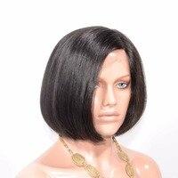 Sunnymay Боб Кружева Парики Для Bleack Для женщин бразильский девственные волосы Синтетические волосы на кружеве человеческих волос парики боков