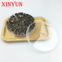 Free Shipping metal cake cutter letter biscuit mold, alphabet fondant cookie 26 letters cutters stainless steel print stamp tool