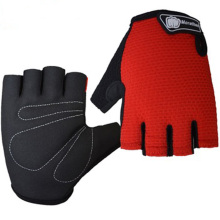 Wholesale comfortable lycra men half finger cycling gloves for outdoor sports