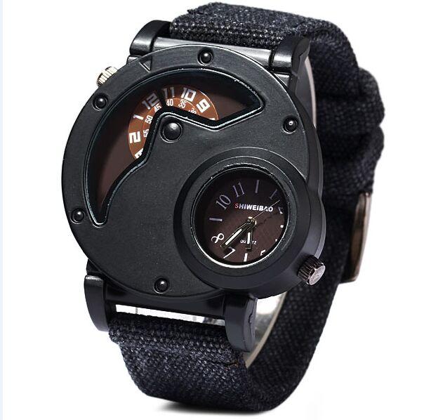 Shiweibao Watch Man Quartz Watches Top Brand Luxury Nylon Strap Military Sport Wristwatch Male Clock relogio masculino