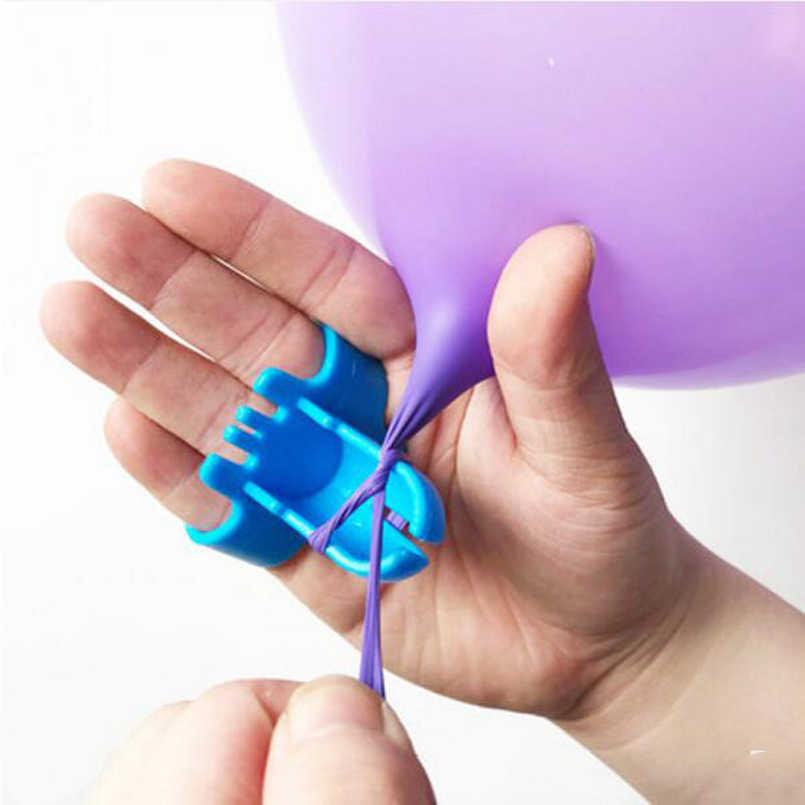 1 Uds alta globo de calidad del atador de látex globo de la fijación fácilmente nudo globo de la fiesta de bodas accesorios de color aleatorio