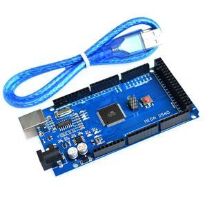 Image 1 - 20 zestawów/partia Mega 2560 R3 Mega2560 REV3 ATmega2560 16AU pokładzie + kabel USB najlepsza usługa najlepiej quatily