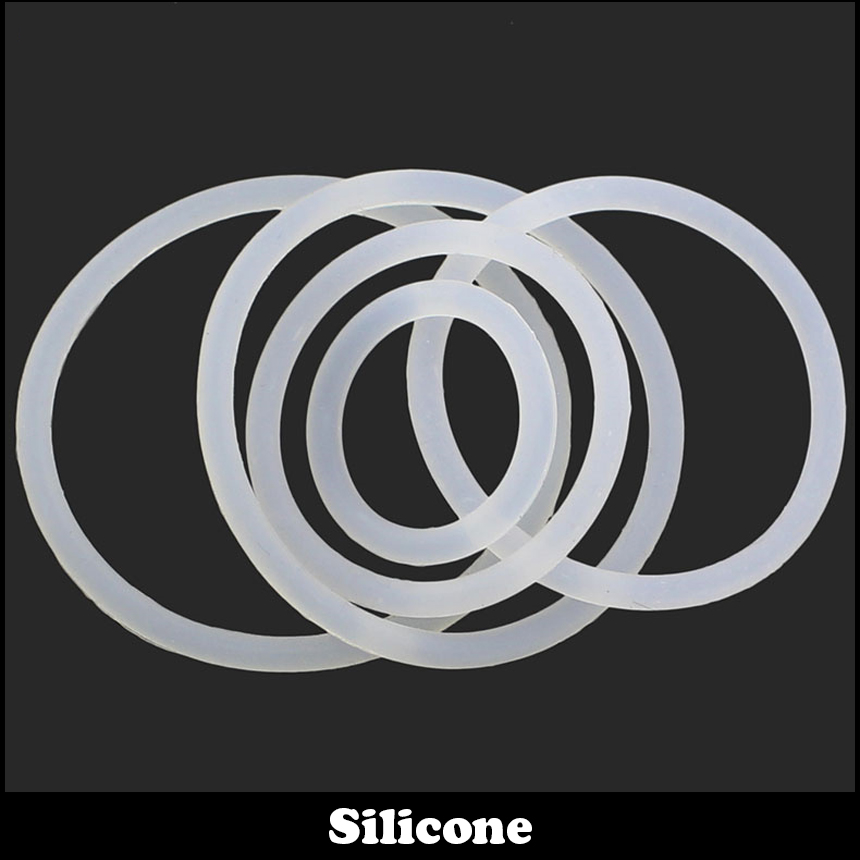6mm <font><b>7mm</b></font> 8mm 6*2 6x2 7*2 7x2 8*2 8x2 (OD*Thickness ) 2mm White Waterproof Food Grade VMQ Gasket Oil Seal Silicone <font><b>O</b></font> <font><b>Ring</b></font> image