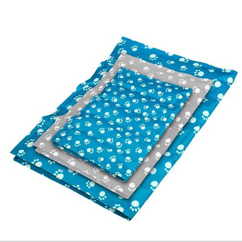 Luxe garder refroidissement grand chien lit coussin empreinte de sommeil Pad coloré Pet été tapis