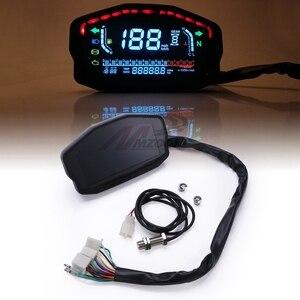 Image 4 - Đa Năng Xe Máy LED LCD Đo Tốc Độ Kỹ Thuật Số Đồng Hồ Đo Đèn Nền Cho Năm 1,2,4 Bình Cho Xe BMW Honda Ducati Kawasaki Yamaha