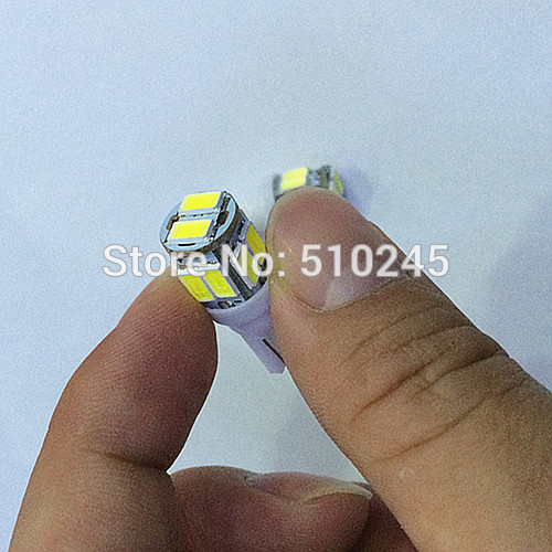 100x Free shipping Car Auto LED 194 W5W 10smd T10 10 led smd 5630 Wedge LED Light Bulb Lamp White