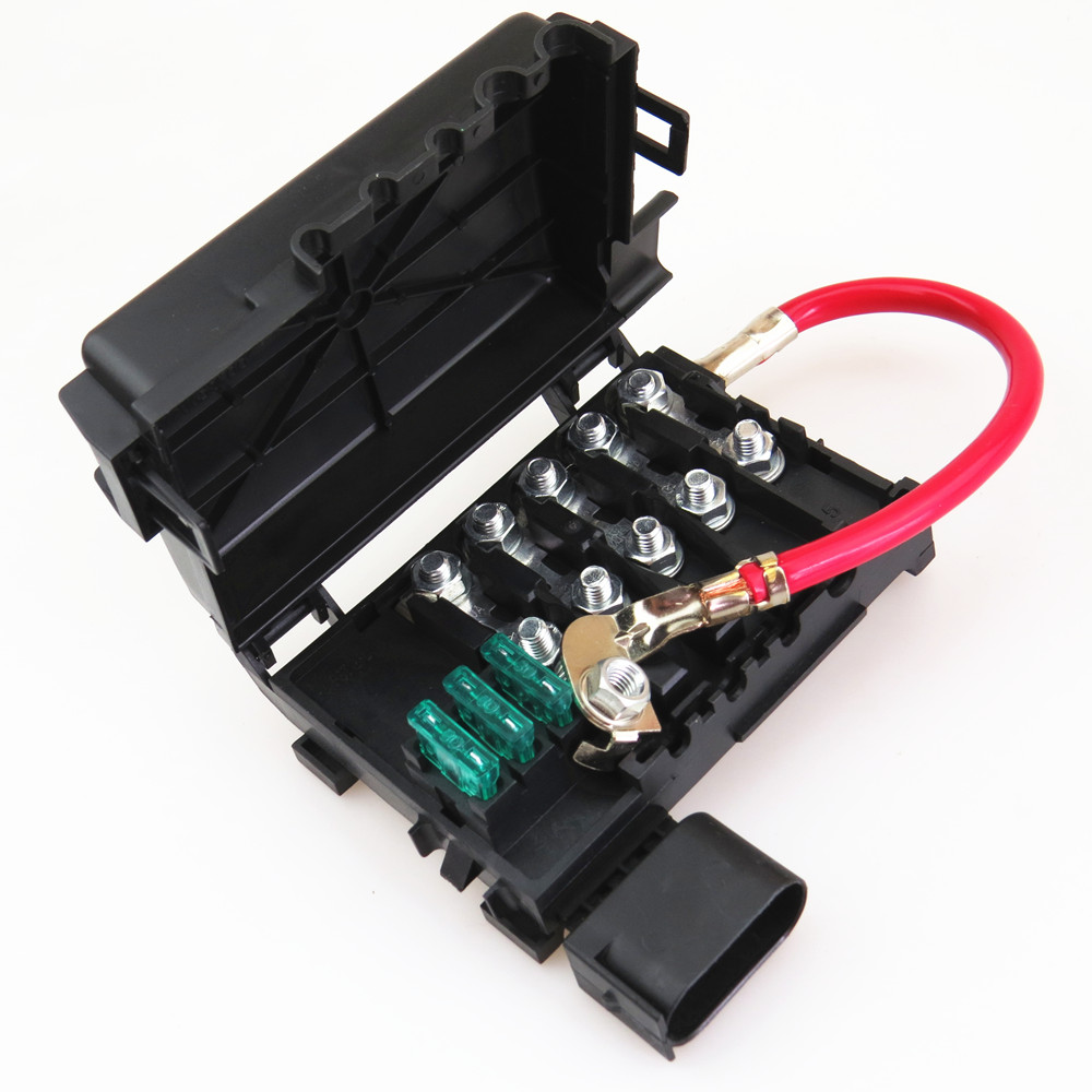 zuczug car battery fuse box for vw beetle jetta mk4 golf mk4 bora 4 seat leon [ 1000 x 1000 Pixel ]
