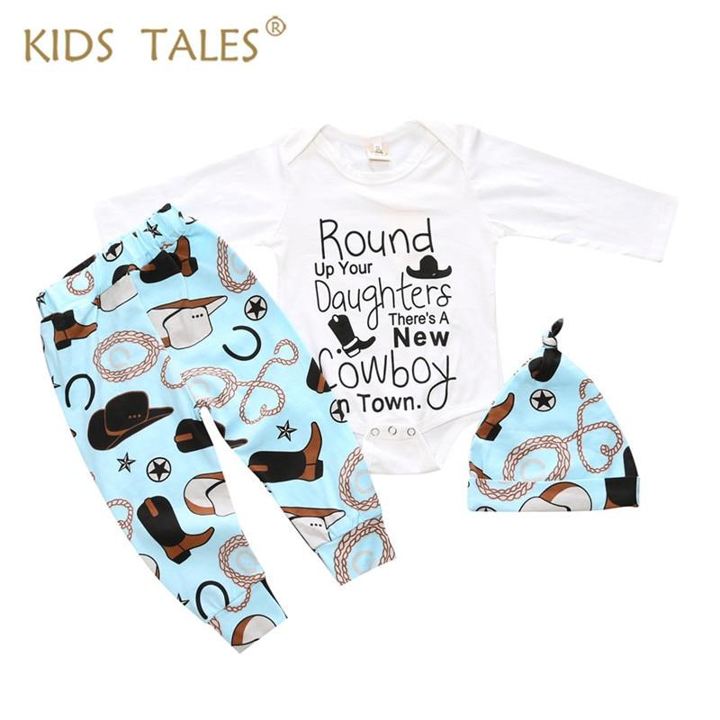 Autumn 2017 Hot Sale Baby Boys Clothes Set Baby Romper + Long Pants + Of Cap 3 Pcs. / Set. Newborn Boy Set Of Clothes YZ180