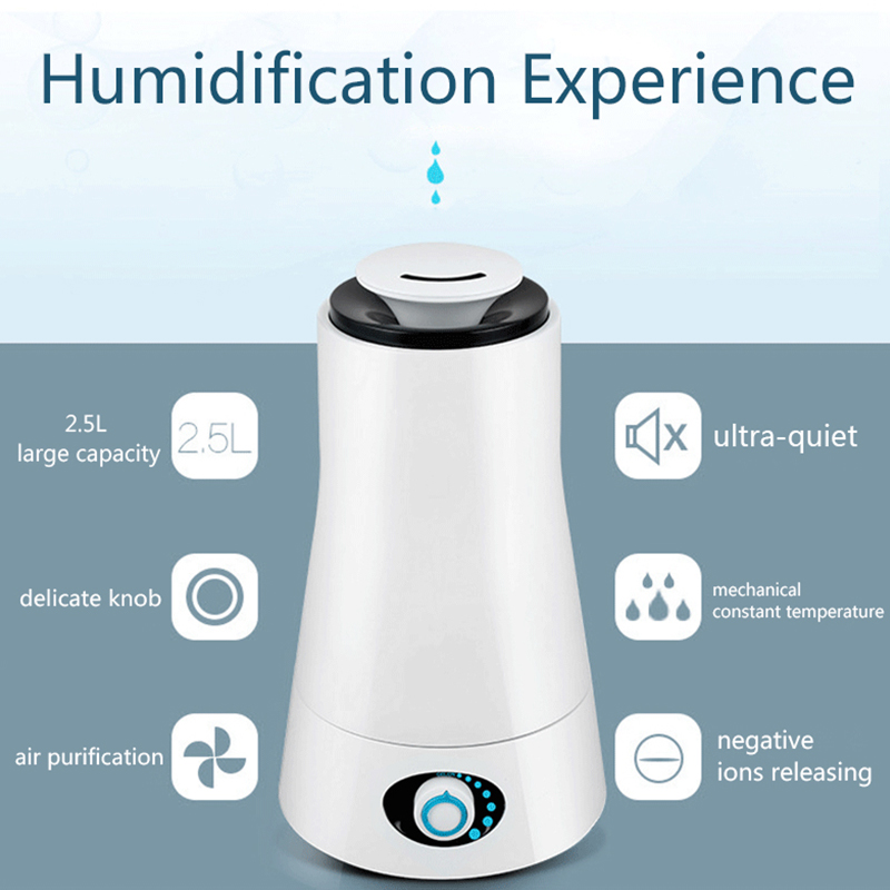 Image 2 - TINTON LIFE 220V 2.5L Humidifiers Aroma Ultrasonic Humidifier LED Light Humidifier Essential Oil Diffuser Air Humidifier-in Humidifiers from Home Appliances