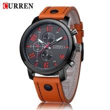 2017 Relojes Curren Men's Sports Quartz Watches Mens Watches Top Brand Luxury Leather Wristwatches Relogio Men Watches 8192