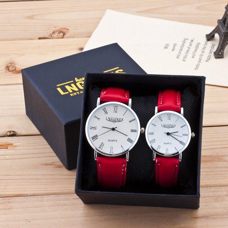 Luxury Brand Design Women Men Watches Leather Men Wristwatch Clock Women's Dress Lovers Couple Casual Simple Quartz Watch Gift