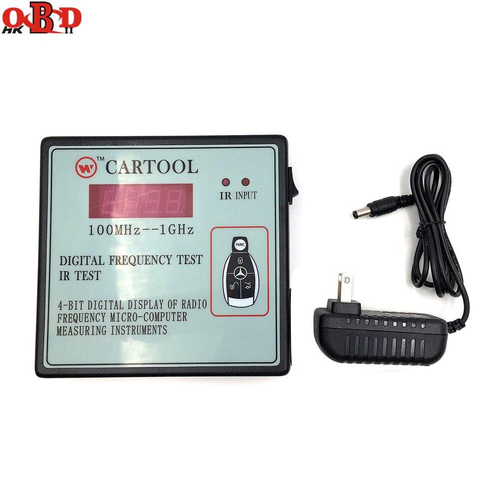 HKOBDII affichage numérique des Instruments de mesure de Micro-ordinateur de Test IR de radiofréquence, testeur de télécommande sans fil de clé de voiture