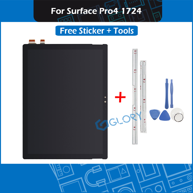 New Touch Screen Assembly For Microsoft Surface Pro4 1724 LCD Display with Sticker Tools LTN123YL01-001