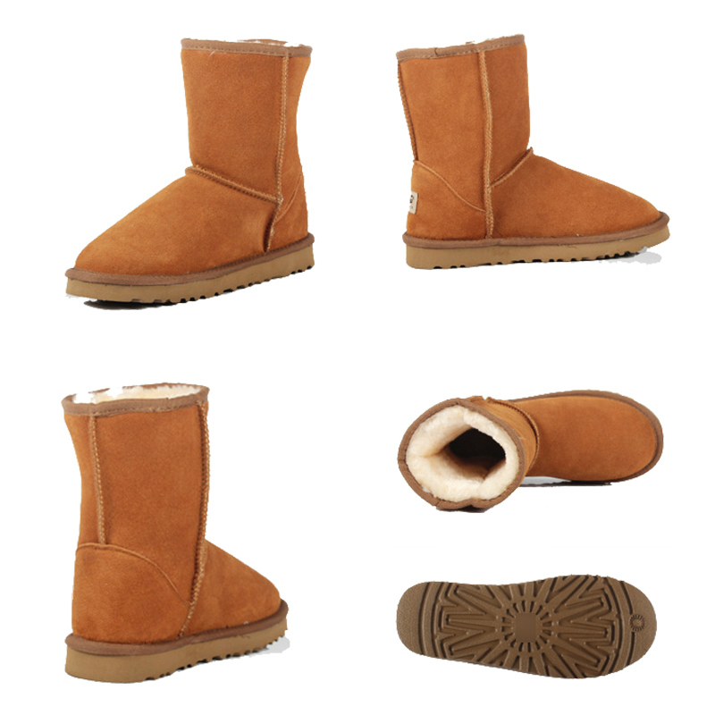 2016 Womens High Quality Boot Women Genuine Suede Leather Australia Classic Warm Winter Unisex Snow Boots Size Plus Size high boot