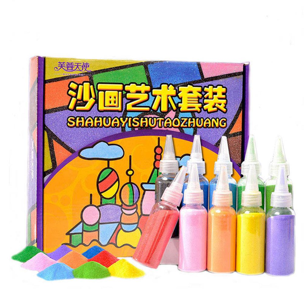 LeadingStar Sand Painting Set Children Creative Hand-made Sand Art Scratching Painting Toys DIY Drawing Toys zk30 5 10pcs sand painting handmade colored cartoon drawing toys sand art kids coloring diy crafts learning sand art painting cards