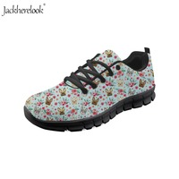 67e903d13 Jackherelook French Bulldog Flower Printed Running Shoes Women Sneakers  Breathable Sport Athletic Shoes For Female Fitness