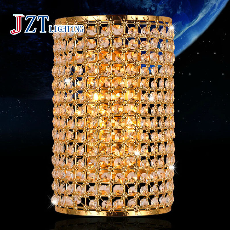 Z Best Price New Modern Crystal Wall Lamp Sconces Bracket light Wall fitting Lighting E14 LED Lighting Gold Home Lighting new modern dia 12cm creative crystal wall sconces round wall lamp fixtures lighting for hallway bathroom bedside lighting wl210