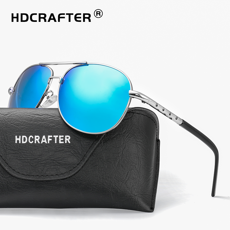 94b360e4a93bc HDCRAFTER classic mens sunglasses men retro vintage polarized pilot sunglasses  men polarized uv400 high quality driving