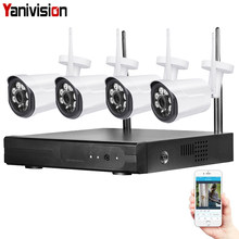 4CH 1080P WIFI NVR CCTV Security Camera System Wireless NVR Kit 720P Home WIFI Video Surveillance Outdoor IP Camera Waterproof(China)