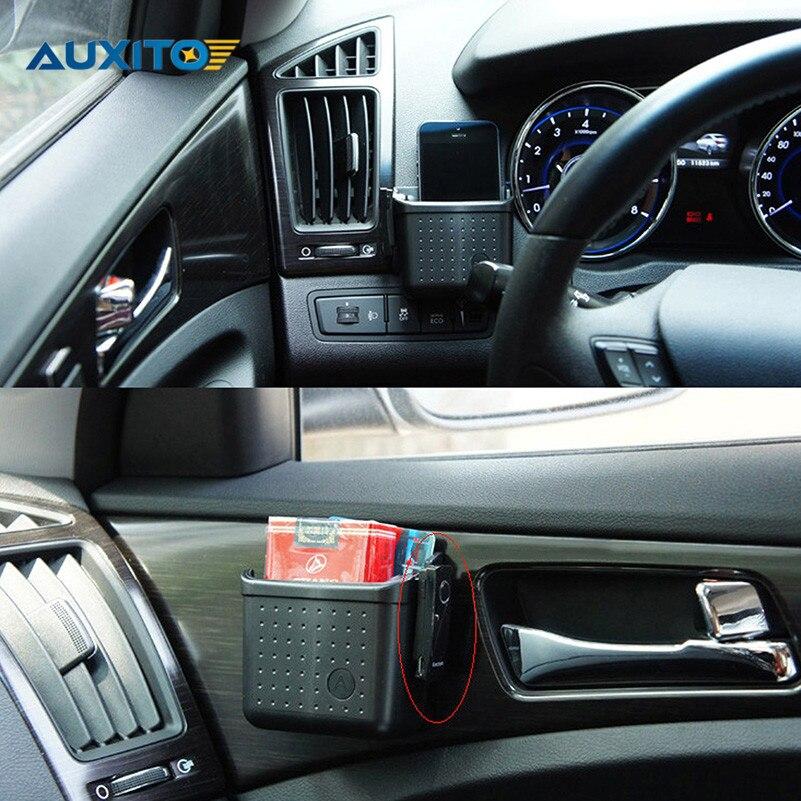 Car Mobile Phone Earphone Holder Storage Case Bracket For Audi A3 A4