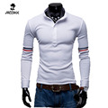 Hot Sale New 2016 Fashion Brand Men Polo Shirt Solid Color Stand Collar Long-Sleeve Slim Fit Shirt Men Polo Shirts Casual FFWA