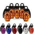 5x Алюминий Grenade Бомба Стиль Универсальный Автомобиль Грузовик Мотоцикл Колеса Шины Valve Caps Велосипед Шин Воздушный Клапан Крышки Бесплатная Доставка