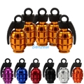 5x Aluminum Grenade Bomb Style Universal Car Truck Motocycle Wheel Tyre Valve Caps Bicycle Tire Air Valve Cover Free Shipping