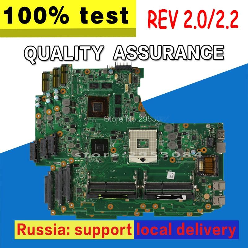 цена на N53SV Motherboard Rev 2.0 4 Slots GT540M 1G For ASUS N53S N53SM N53SN N53SV Laptop motherboard N53SV Mainboard N53SV Motherboard